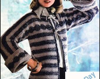 No285 Frauen Häkeln Muster Vintage Modulare Häkeln Bluse
