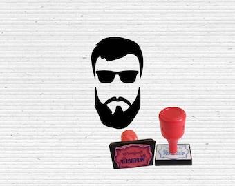 Hippie Beard Guy Craft Stamp for Scrapbooking, Cardmaking, Vintage Stamps, Bullet Journaling