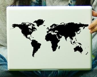 World Map Laptop Decal iPad