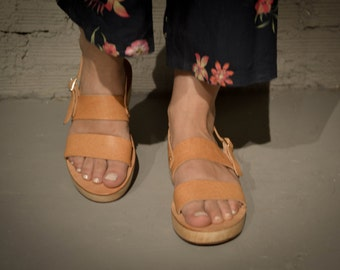 Strappy Sandals,Leather Sandals, Summer Platforms, Women Shoes, Leather Platforms, Greek Sandals
