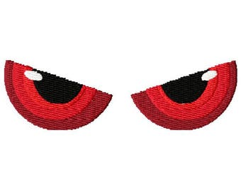 Angry Eyes Embroidery Design - Instant Download