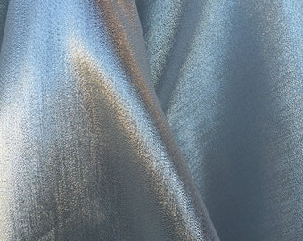 60 inches wide silver silk lamé