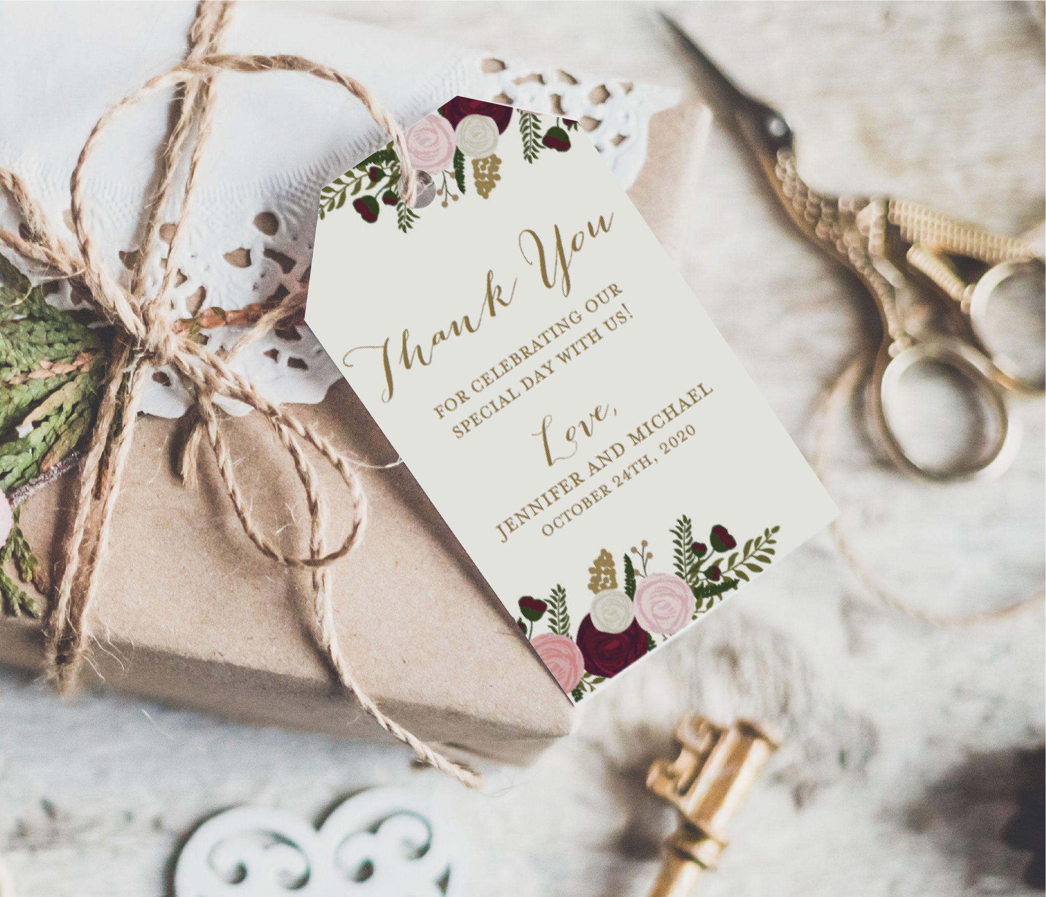 Wedding Favor Gift Tags | Giftwedding.co