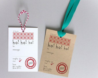 Santa Gift Tags For Children