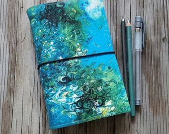 Underneath Journal with original art cover for travel vacation life plan journaling by tremundo