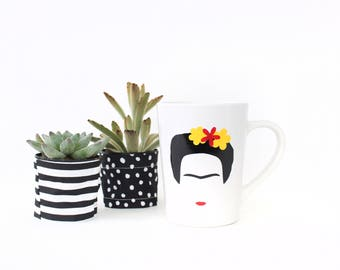 Frida Kahlo Coffee Mug - 14oz Ceramic Mug - Coffee Cup - Gifts for Her