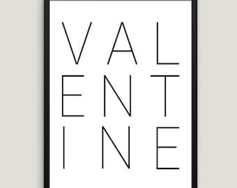 Valentine Wall Art | Valentines Day Print, Valentines Printable, Instant Download, Valentines Wall Print, Valentine Decor Gift