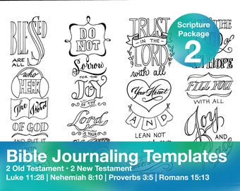 Bible Journaling Template Package 2