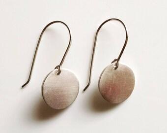 Sterling Silver Dangle Disc Earrings