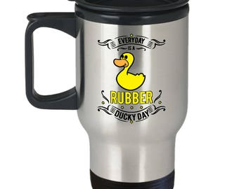 Rubber Ducky Travel Mug -  For Drinks on the Go Made In The USA