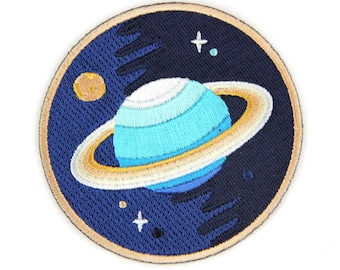Galaxy Planet Iron On Patch