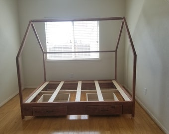 Kid Playhouse Bedroom Frame with Drawers