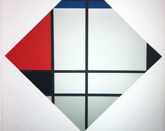 Cesar Domela Silkscreen: Untitled (after Piet Mondrian)