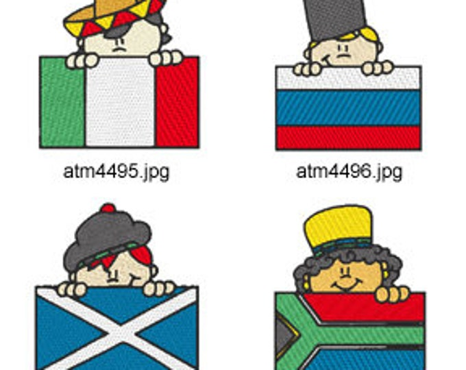 Flag-Peekers-2 ( 7 Machine Embroidery Designs from ATW ) XYZ17E