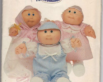 Butterick 6981 Sewing pattern for Cabbage Patch Kids Preemies includes romper, dress, panties, bunting, and hat.