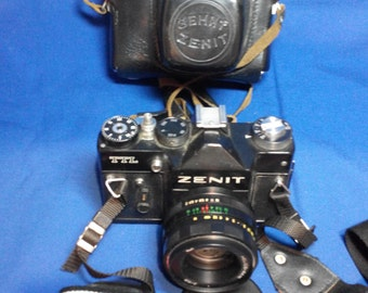 Zenit TTL Vintage Soviet Camera   Helios 44M Lens