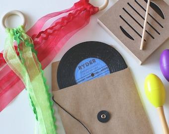 Custom Vinyl Record Label Invitation Music Theme 50's 60's 70's 80's/ Retro/ Disco/ Vintage/ Rock Roll Birthday (Quantity 5)