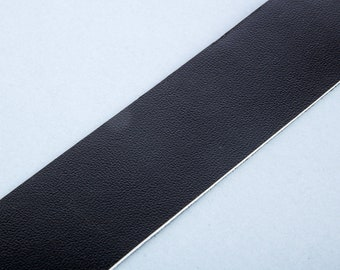 40mm by 20cm black leather strap