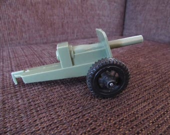 Vintage Tim-Mee Toys Plastic Army Cannon Free Shipping