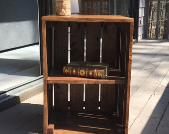 Wood nightstand end table bookcase