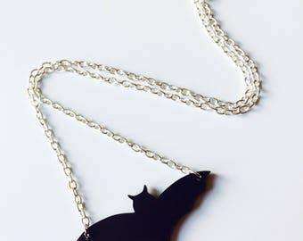 Bat | Batman | Halloween | Matt | Black | Laser Cut | Acrylic | Necklace