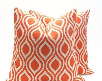 15% Off Sale Decorative Pillow Orange Pillow linen pillow, Pillow Cover orange tan Pillow - Pillow Shams - Orange and Tan -  Orange Throw Pi
