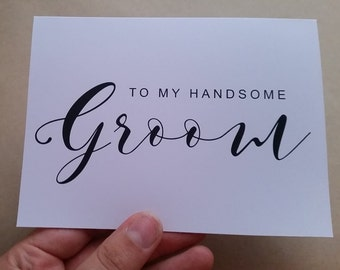 wedding day card | to my beautiful bride | to my handsome groom