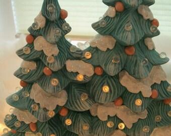 Ceramic Christmas tree,lighted