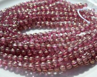 Cherub Pink 5mm Melon Czech Glass Beads 25