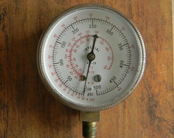 Vintage Imperial Pressure Gauge For Steampunk Crafters - Tested Working in Very Good Condition - 0 to 500 psi
