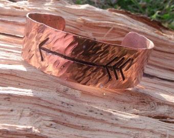 Cherokee Copper Arrow Cuff