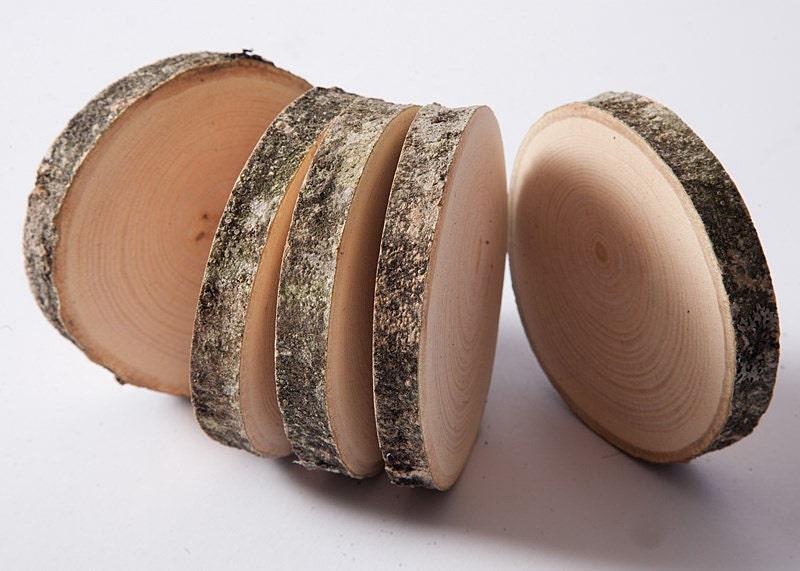 10 wooden coasters wooden discs tree slices rustic wedding zoom junglespirit Image collections
