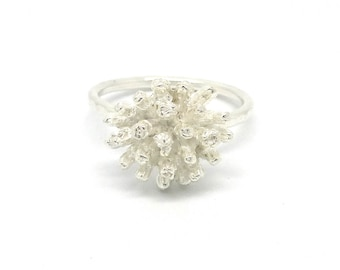 Sterling Silver Magnolia Blossom Ring made to order in your size