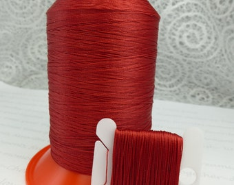 Red Silk Like Beaders Secret Knotting Thread Beading Stringing Sewing Weaving 990 Yards 900 Meters Polyester