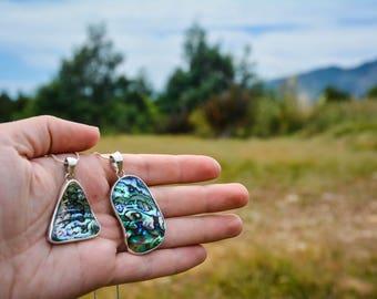 Unique Paua (Abalone) Natural Silver Necklace