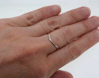 Silver Wave Ring - Sterling Silver Stacking Ring - Rings for Women - Midi Ring - Bohemian Ring