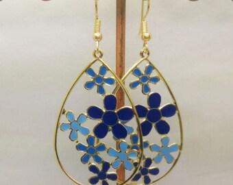 lovely earrings enamel flowers
