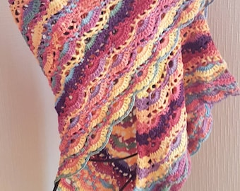 Shawl scarf with bright colors