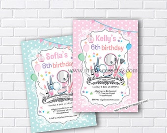 beauty birthday, Glamour party, girl birthday, girl party, girls birthday party, Spa party, makeup party, sleepover party,  - card 872