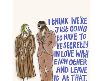"Movie poster - Cult Wes Anderson Film art print quote Margot & Ritchie The Royal Tenenbaums -   8.3"" X 11.7"" print - 4 for 3 SALE"