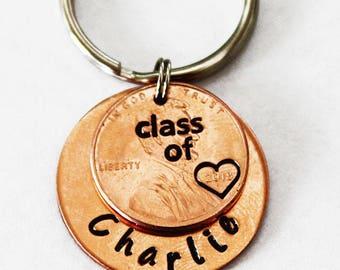 CLASS OF 2018. Graduation Gift. Graduation Penny. Lucky Penny. Grad Gift. Graduation Cap. Personalized Gift. Personalized Graduation Gift.