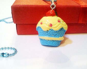 Original cupcake Cool Emo Kawaii 1.5mm ball chain necklace Israel Hand made
