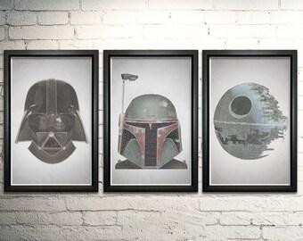Star Wars FRAMED Art Print Set - Every Line of Dialogue, Home decor wall art