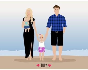 Custom Family Portrait, Additional Human