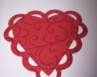 Ribbon Heart Die Cut Chipboard set of 10