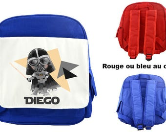 """BACKPACK CHILD """"DARTH VADER"""" PERSONALIZED WITH CHILD'S NAME"""