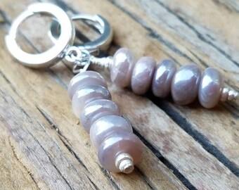 Mystic Moonstone Earrings and Hill Tribe Silver, June Birthstone, Cream Moonstone, Sterling Silver European Hoops, Pierced Earrings