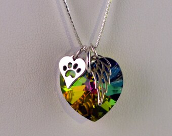 Rainbow bridge pet loss necklace - Pet Loss- pet memorial - pet loss jewelry - memorial gift - loss of dog gift - loss of cat gift