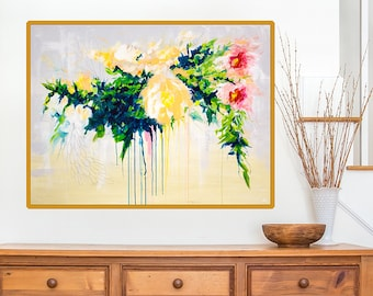 Floral Wall Art Print - floral painting print - Boho style art print - Abstract Floral Art