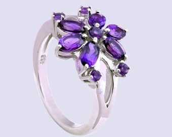 Amethyst ring,925 sterling silver ring,Handmade ring,Charming ring,silver ring